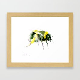 Bumblebee minimalist bee decor Framed Art Print