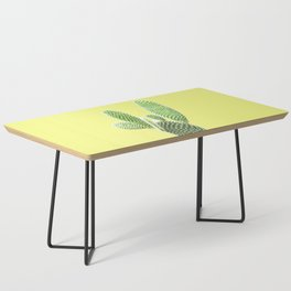 Cactus Yellow Background Coffee Table