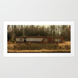 Abandoned Mobile Home Art Print