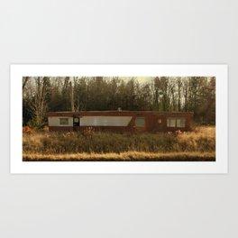 Abandoned Mobile Home Art Print
