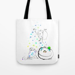 raining flowers Tote Bag