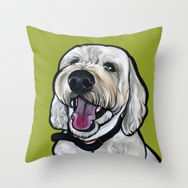 Kermit the labradoodle Throw Pillow