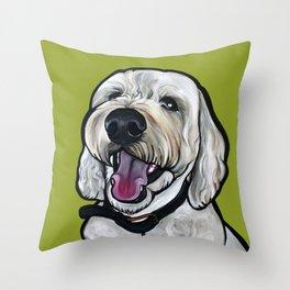 Kermit the labradoodle Throw Pillow