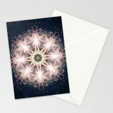 New year colorful sparkly fireworks mandala Stationery Cards