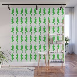 Green Bold Mod GoGo Girls Wall Mural
