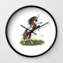Rearing Horse Wall Clock
