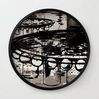 architect Wall Clocks featuring Architect Invader by Paul Prinzip