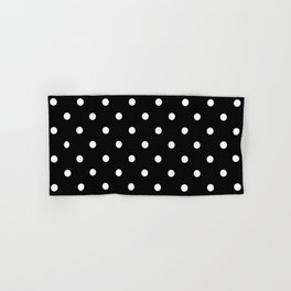 Black & White Polka Dots Hand & Bath Towel