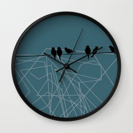 Birds on a Wire Wall Clock