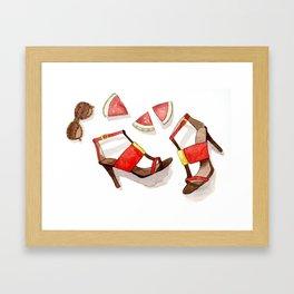 Summer Shoes Framed Art Print