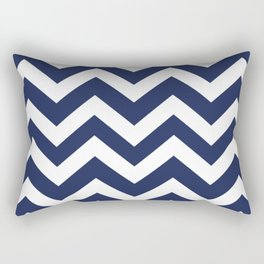 Space cadet - blue color - Zigzag Chevron Pattern Rectangular Pillow