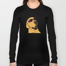 Sunglass dog red Long Sleeve T-shirt