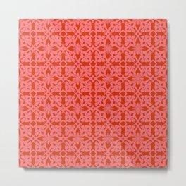 Ethnic tile pattern pink Metal Print