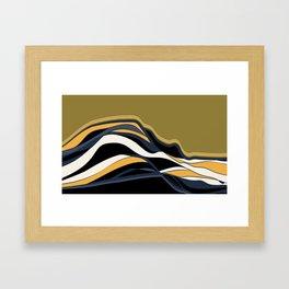 olive & navy & mustard  / minimalist Framed Art Print