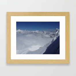 Alpine Mountain Climbers Framed Art Print