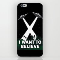 i want to believe iPhone & iPod Skins featuring I want to believe by BomDesignz