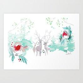 Christmas Landscape Art Print