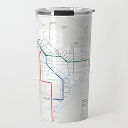 Future Minneapolis & St. Paul Transit Map  Travel Mug