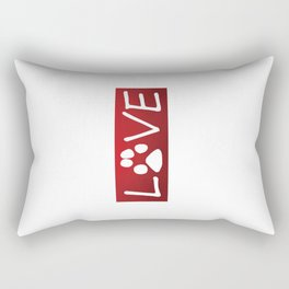 Dogs are Love Rectangular Pillow