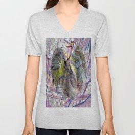 Vintage Fraktal Love Unisex V-Neck