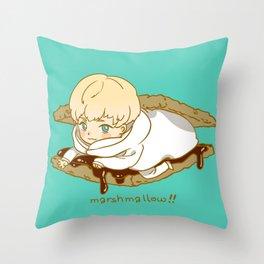Marshmallow Ryo Throw Pillow