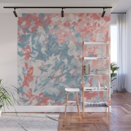 Warm abstraction - soft terracotta colors Wall Mural