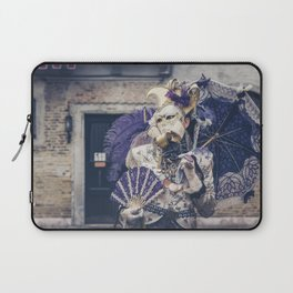 Carnavale di Venezia 2018 purple Laptop Sleeve