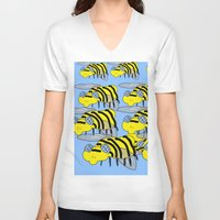 bees V-neck T-shirts featuring Bees by David Abse