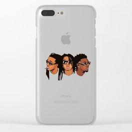 Migoss Cartoon T-Shirt Clear iPhone Case