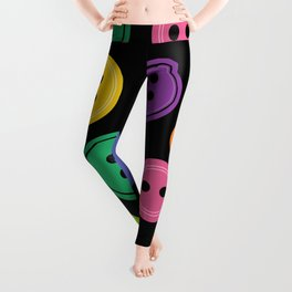 Colorful Rainbow Buttons Leggings