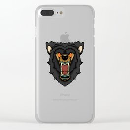 Traditional Bear Clear iPhone Case