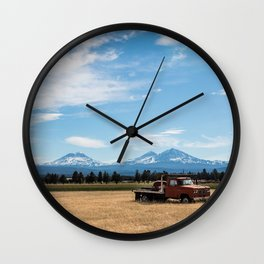 Ranch Truck outside of Sisters, Oregon Wall Clock