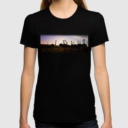 Ostriches at sunset T-shirt