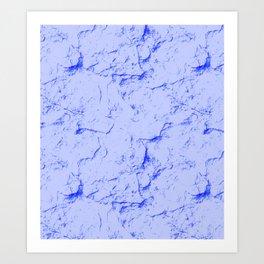 Indigo Marble Art Print
