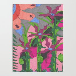 The Garden at Twilight Poster