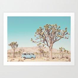 Van in Joshua Tree Art Print