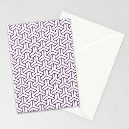 Japanese Yukata Jinbei Bishamon white on Ayame Stationery Cards