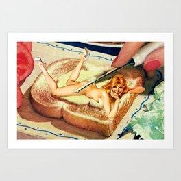 Leg Spread Art Print