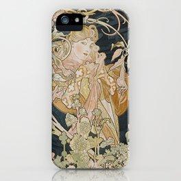 1898 - 1900 Femme a Marguerite by Alphonse Mucha iPhone Case