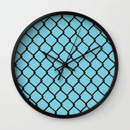 Chain Link Blue Wall Clock