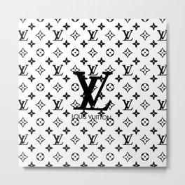 LV - pattern Metal Print