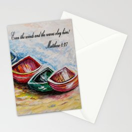 Even the Winds and Waves Stationery Cards