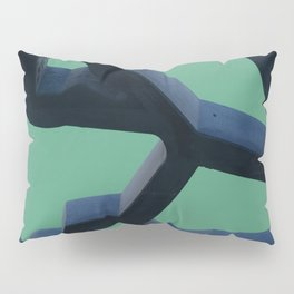 Grid and sea view Pillow Sham