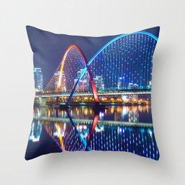 Magnificent Expo Bridge At Gap River Daejeon South Korea Asia Ultra HD Throw Pillow