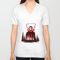 hannibal V-neck T-shirts featuring Hannibal by Risa Rodil