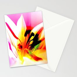 Abstract Of The Lily Stationery Cards