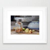 breakfast Framed Art Prints featuring Breakfast by Ali Inay