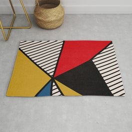 Primary Colors and Stripes Rug