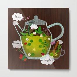 natural herbal tea Metal Print