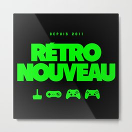 Rétro Nouveau (Vert) Metal Print
